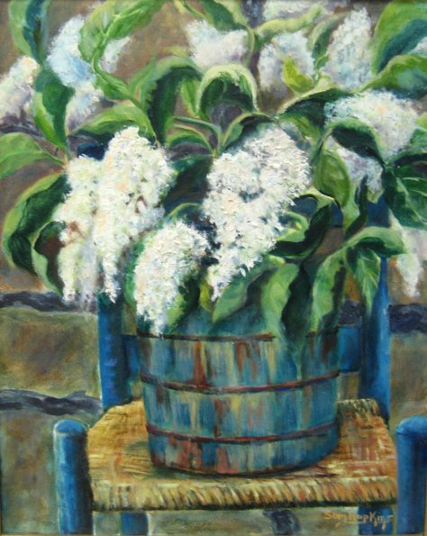Sam Hopkins, Lilacs in a Bucket